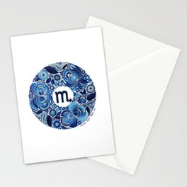 Scorpio in Petrykivka Style (with artist's signature/date) Stationery Cards