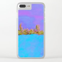 Sky, Shore, and Sea Clear iPhone Case