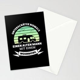 Alter Mann mit Wohmobil Geschenk Stationery Cards