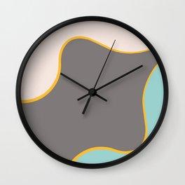 Abstract painting, beautiful dark woman, modern home decoration, geometric wall art Wall Clock