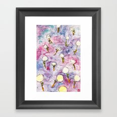 Dandelion, where you want to go? Framed Art Print