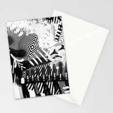 GRAY AND BLACK Stationery Cards