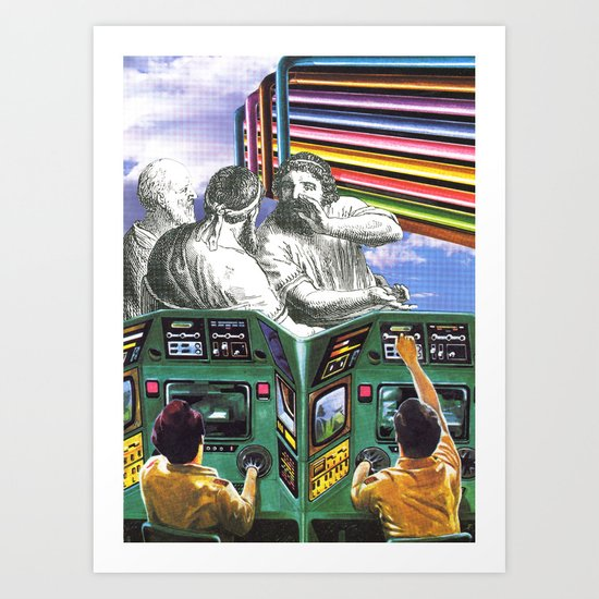 I Think We're Being Watched Art Print
