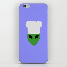 Alien cook with hat iPhone Skin