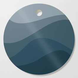 Abstract Color Waves - Blue Palette Cutting Board