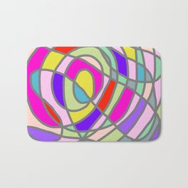Stain Glass Abstract Meditation Tango Bath Mat