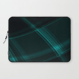 Light blue strokes with crisp chaotic lines of intersecting glowing neon stripes. Laptop Sleeve