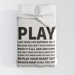 Heart Is All You Got Typography Comforters