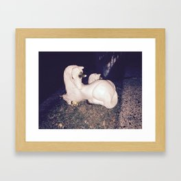 Urban Unicorn with Child Framed Art Print