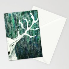 Christmas Stag handpainted Stationery Cards