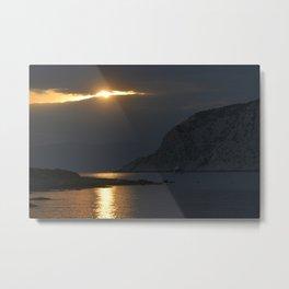 Poros sunset 12 Metal Print