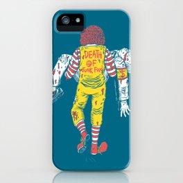Death Of Junk Food iPhone Case