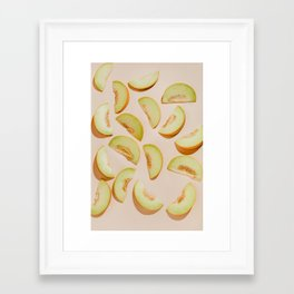 Melon slices Framed Art Print