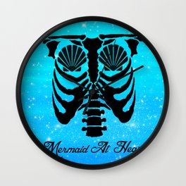 Mermaid At Heart Wall Clock