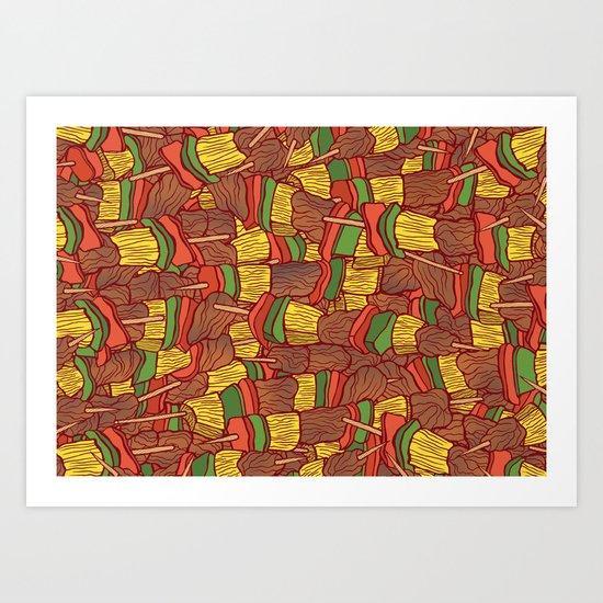 Shish Kebabs  Art Print