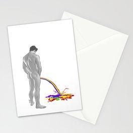 Rainbow pee Stationery Cards