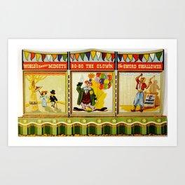 Circus Sideshow Poster Art Print