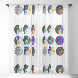 Yin & Yang Flash Sheet Sheer Curtain