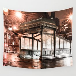New York Subway Entry Wall Tapestry