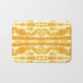 Yellow Tie Dye Twos Bath Mat