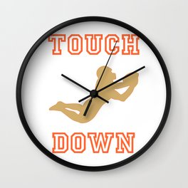 Touch Down in Green Wall Clock