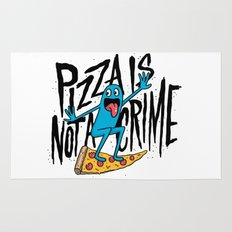 Pizza Is Not A Crime Rug