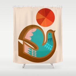 Abstraction_BIRD_Scandinavian_Minimalism_001 Shower Curtain