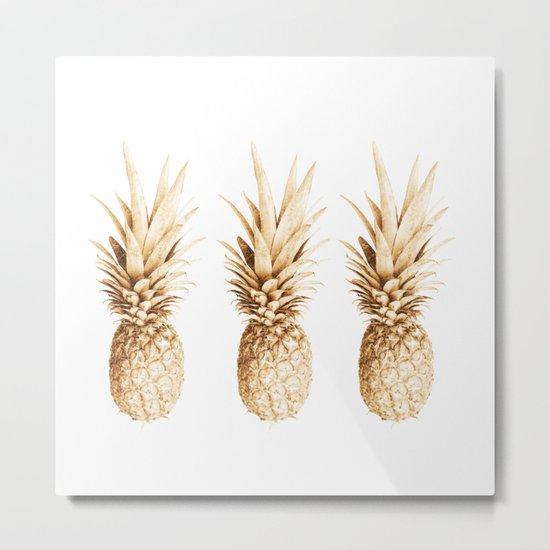 Pineapples and illusion Metal Print
