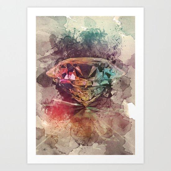 diamond rainbow Art Print