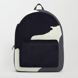 Contemporary Minimalistic Black and White Art Backpack