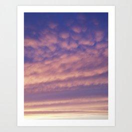 Purple Pink Skyscape Art Print