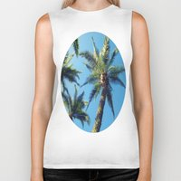 palm trees Biker Tanks featuring Palm Trees by Jillian Stanton