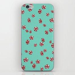 Peppermint Candy in Aqua iPhone Skin