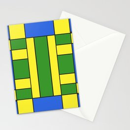 They were all yellow... blue and green Stationery Cards