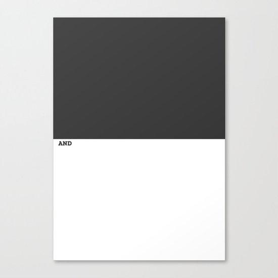 Black and White #Minimal Canvas Print