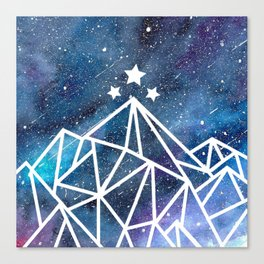 Watercolor galaxy Night Court - ACOTAR inspired Canvas Print