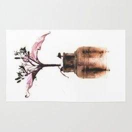 Ink well with flower Rug