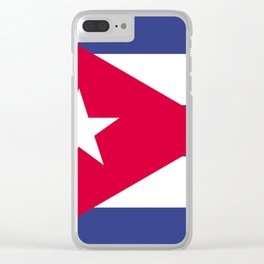 Cuba flag emblem Clear iPhone Case