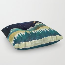 Snowy Night Floor Pillow