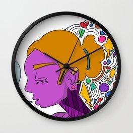 Cross Faded Wall Clock