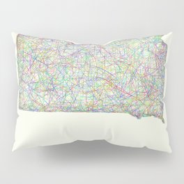 South Dakota map Pillow Sham
