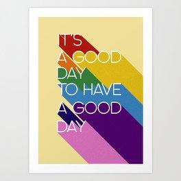 It's a good day - yellow Art Print