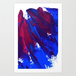 Wings Collection  blue/pink Art Print