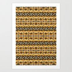 Montana Stripe - Gold Art Print