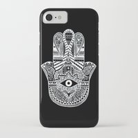 hamsa iPhone & iPod Cases featuring Hamsa by Louise