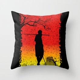 The African Warrior Throw Pillow
