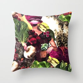 Fruit and Vegetable Salad Surprise Throw Pillow