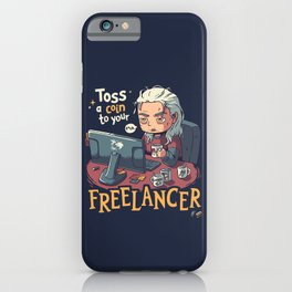 Toss a Coin to your Freelancer // Work from Home, Witcher Geralt iPhone Case