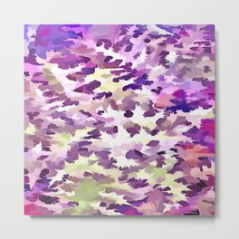 Foliage Abstract Pop Art In UltraViolet Purple and Lilac Metal Print