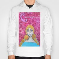 courage Hoodies featuring Courage by Leanne Schuetz Mixed Media Artist